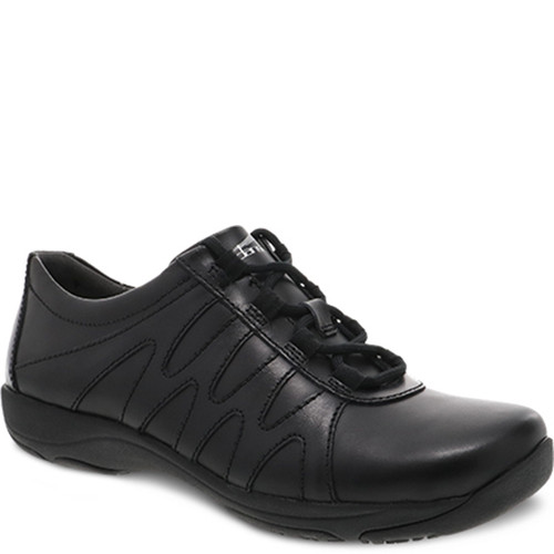 Dansko NEENA Black Leather Slip Resistant Work Shoes