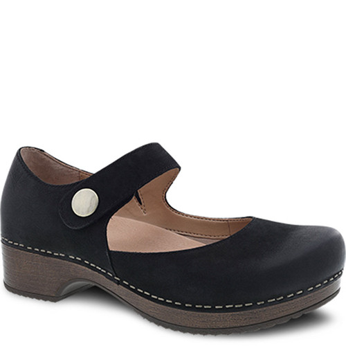 Dansko BEATRICE Black Burnished Mary Janes