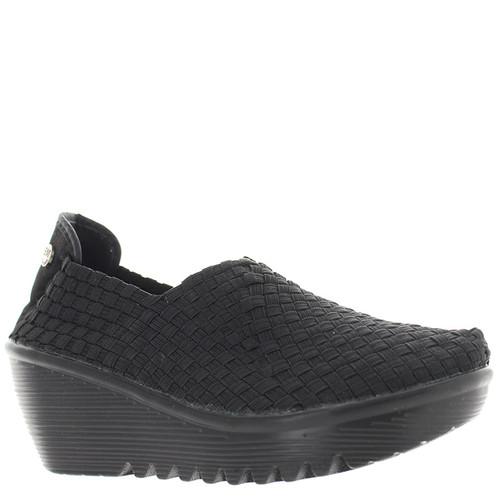 Bernie Mev GEM Black Wedge Shoes