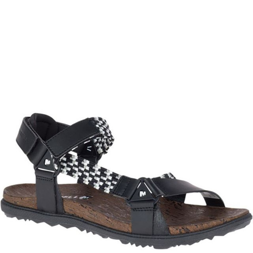 Merrell 94148 AROUND TOWN SUNVUE Black Woven Sandals