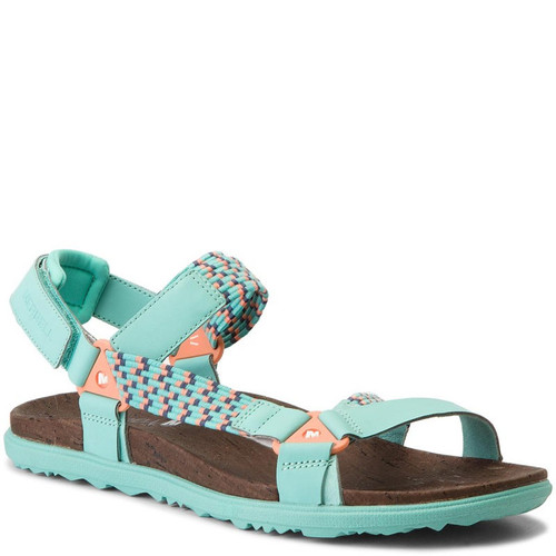 Merrell  94152 AROUND TOWN SUNVUE Turquoise Woven Sandals