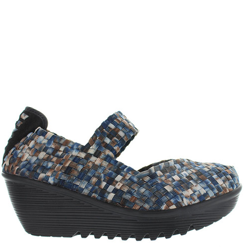 Bernie Mev LULIA Navy Camo Mary Jane Wedges