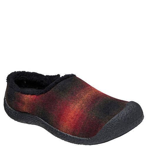 Keen Women's HOWSER Indoor / Outdoor Slippers Red Plaid Black