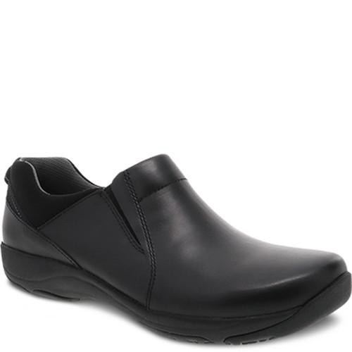 Dansko NECI Black Leather Slip Resistant Work Shoes