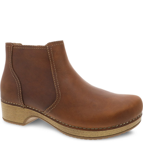 Dansko BARBARA Ankle Boots Tan Oiled Pull Up