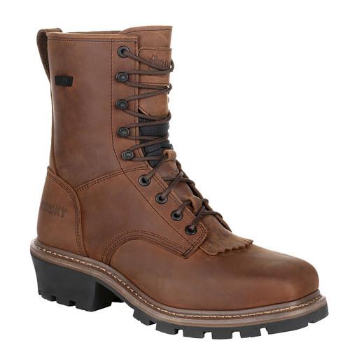 """Rocky RKK0277 9"""" SQUARE TOE Composite Toe Non-Insulated Logger Boots"""