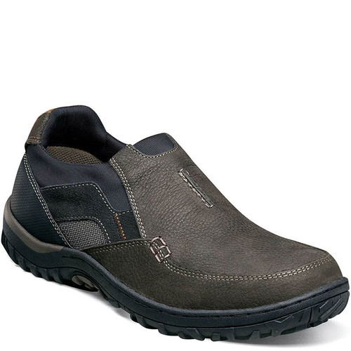 Nunn Bush 84827-013 QUEST MOC TOE SLIP-ON Shoes Charcoal Gray