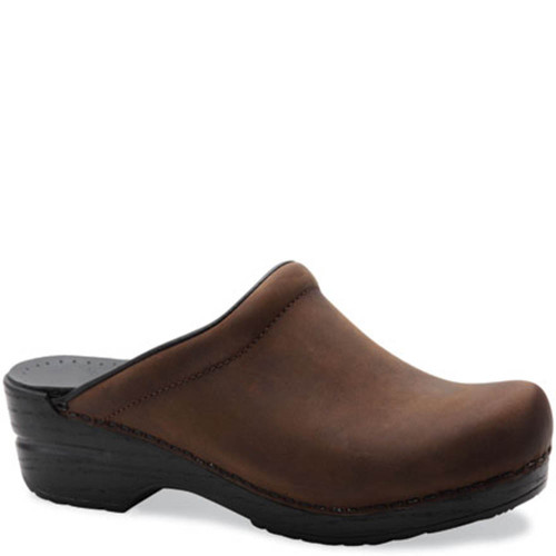 Dansko SONJA BROWN OILED Backless Clogs