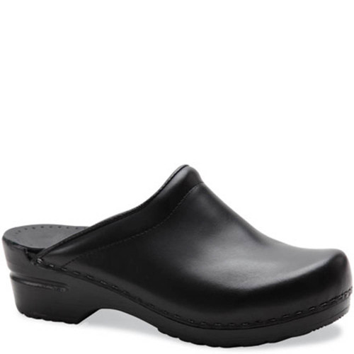 Dansko SONJA BLACK CABRIO Backless Clogs