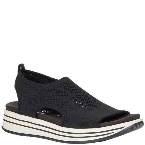 Remonte R2955-02 JOCELYN Black Stretch Knit Sandals