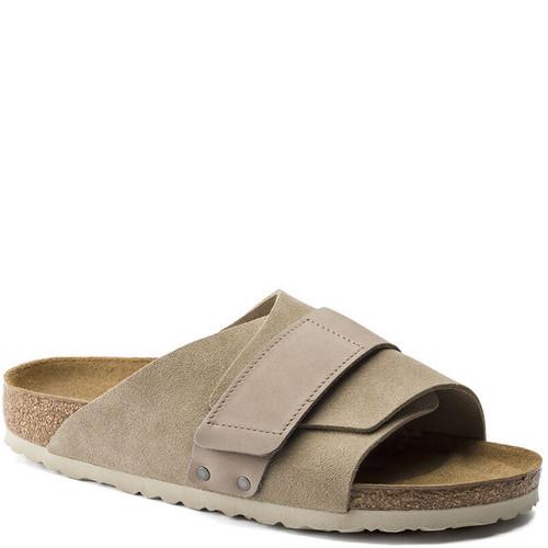 Birkenstock 1015573 KYOTO Taupe Suede Sandals