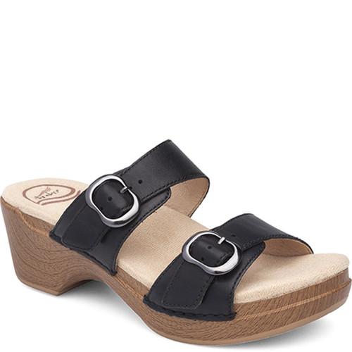 Dansko SOPHIE Black Leather Sandals