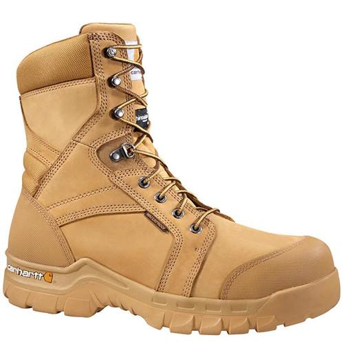 "Carhartt CMF8058 RUGGED FLEX 8"" Soft Toe 400g Insulated Wheat Work Boots"