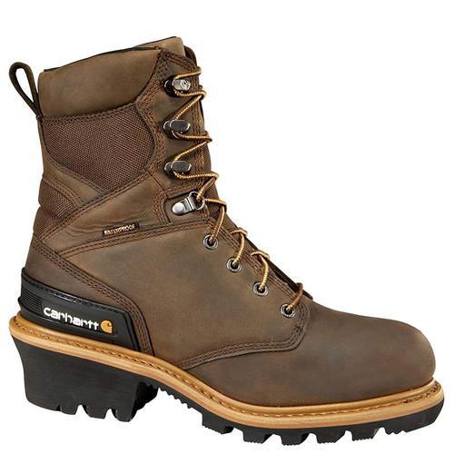 "Carhartt CML8369 CLIMBING BOOTS 8"" Composite Toe 400g Insulated Loggers"