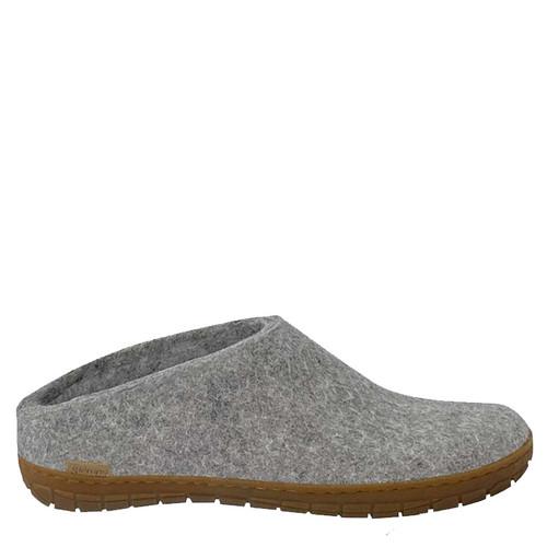 Glerups BR-01 Women's RUBBER SOLE Grey Slippers