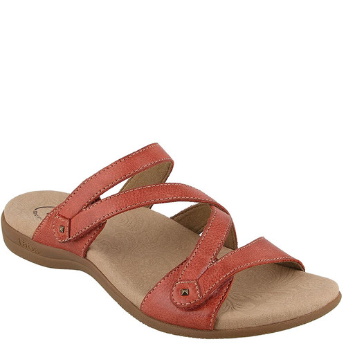 Taos DOUBLE U Red Leather Sandals