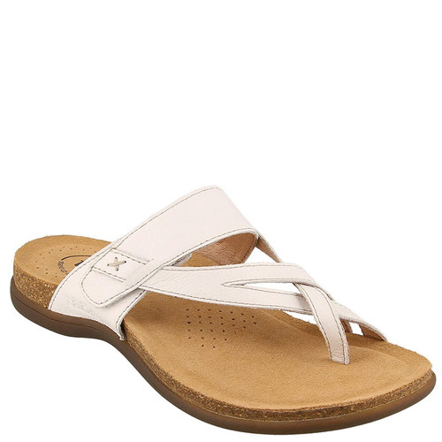 Taos PERFECT White Leather Sandals