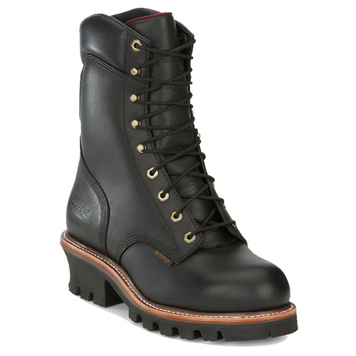 Chippewa 59410 SUPER DNA Steel Toe 400g Insulated Black Logger Boots