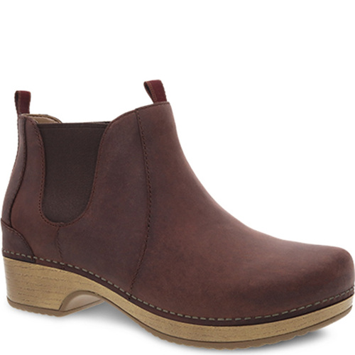 Dansko BECKA Ankle Boots Mahogany Oiled Pull Up