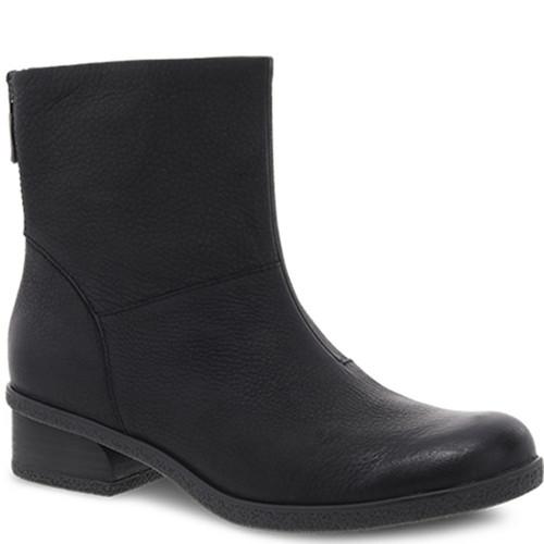 Dansko BRIANNE Black Waterproof Leather Boots