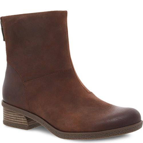 Dansko BRIANNE Brown Waterproof Suede Boots