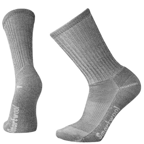 Smartwool USA Men's Light Crew Grey Hiking Socks