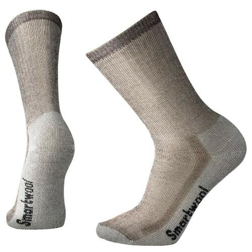 Smartwool USA Men's Medium Cushion Dark Brown Hiking Crew Socks