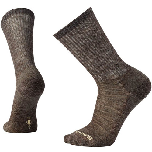 Smartwool USA Men's Taupe Heathered Rib Crew Socks
