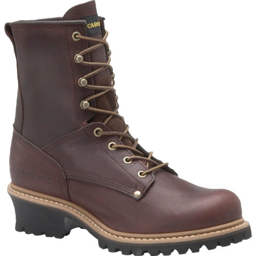 Carolina 1821 ELM Steel Toe Non-Insulated Unlined Logger Boots
