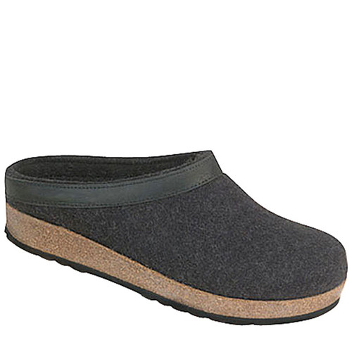 Haflinger GZL44 Men's Boiled Grey Wool Clogs