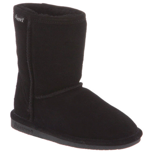 Bearpaw 608Y KIDS' EMMA SHORT Black Winter Boots