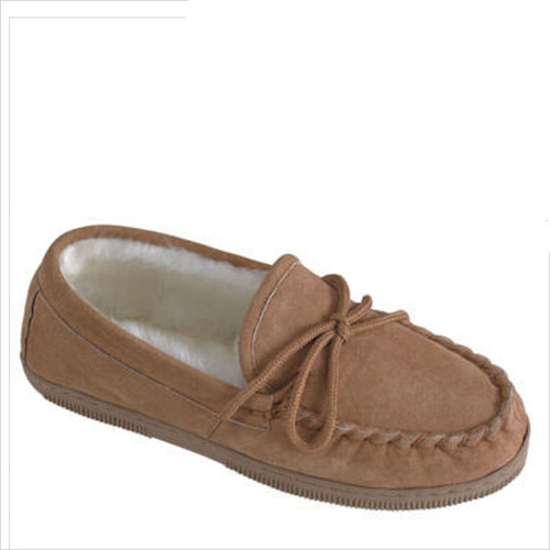 Lamo P002W Women's LINED MOCCASIN Chestnut Slippers