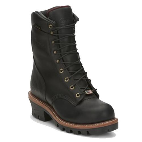 Chippewa 25410 USA ARADOR Steel Toe Insulated Black Super Logger Boots