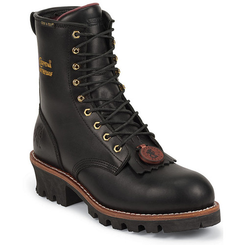 Chippewa 73050 PALADIN BLACK OILED Steel Toe 400g Insulated Logger Boots