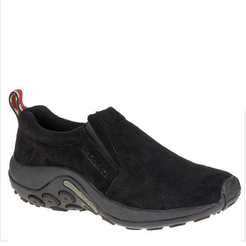 bbf37e3319c Merrell J60825 Men s JUNGLE MOC Slip-On Shoes Black Suede - Family ...