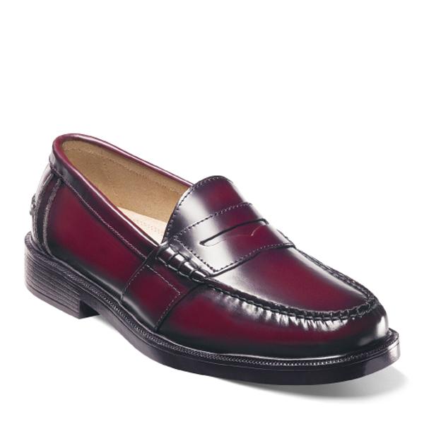 c3a43b18f81a Nunn Bush Lincoln 85538-05 Burgundy Moc Toe Penny Loafer