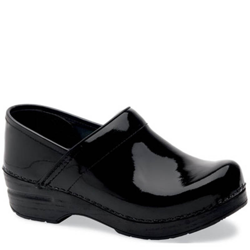 b919a2b3 Dansko BLACK PATENT LEATHER Professional Clogs