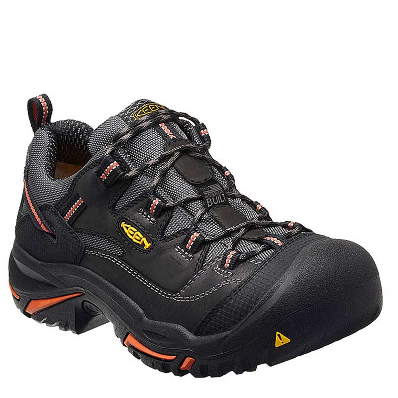 fd8bbf7f57a4 Keen Utility  1011244 USA BRADDOCK Black Steel Toe Non-Insulated Waterproof  Work Shoes