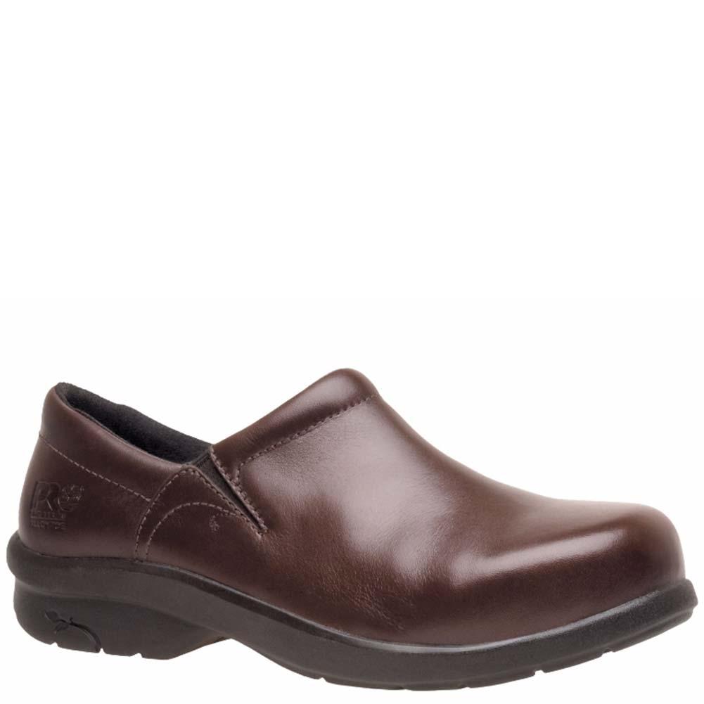 Timberland PRO 85599214 Women s Brown Newbury Slip-On Safety Toe Work Shoes 680b9381c4