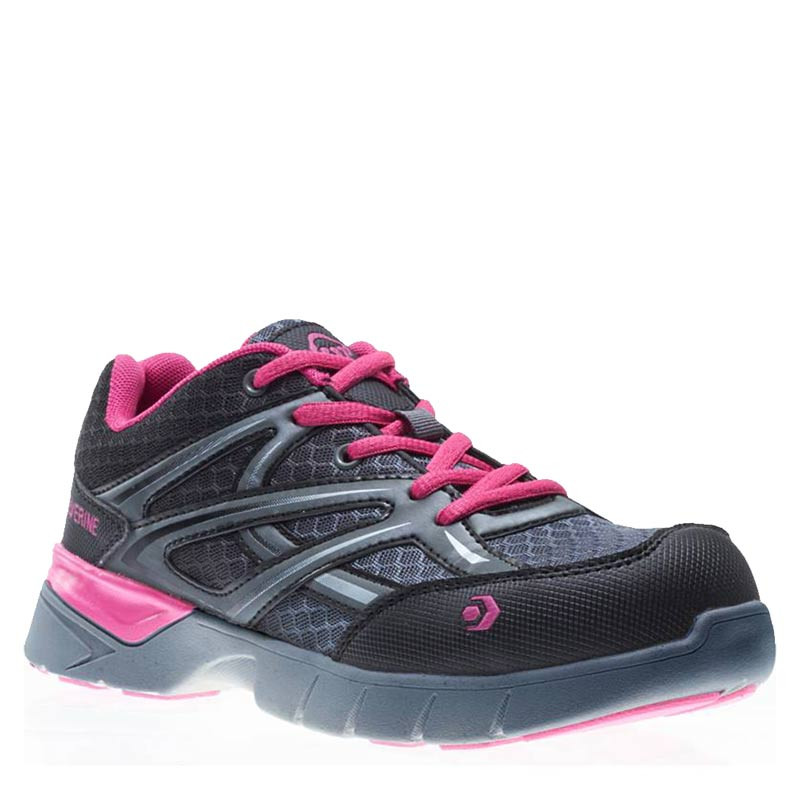 f3839525c54 Wolverine W10678 Women's JETSTREAM CarbonMAX Safety Toe Security Friendly  Grey/Pink Work Shoes