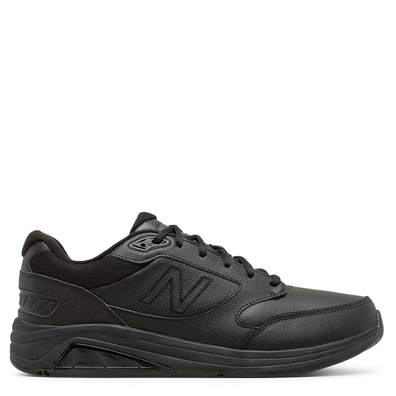 New Balance 928v3 Men's Black Leather Walking Sneakers