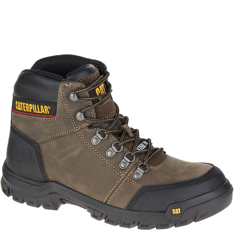d55a5e24aae CAT P90802 OUTLINE Steel Toe Non-Insulated Grey Work Boots