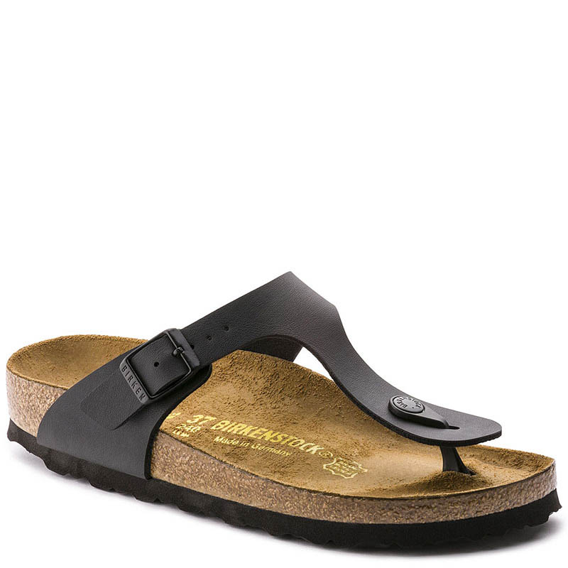 ee0aea7d0f0 Birkenstock GIZEH Birko-Flor Sandals Black - Family Footwear Center