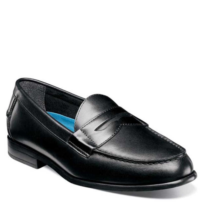6c440354074 Nunn Bush 84744-001 DREXEL Black Penny Loafers - Family Footwear Center