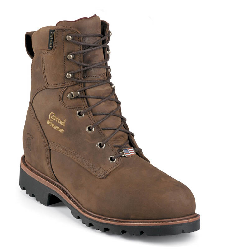 huge selection of bf734 484ce Chippewa 26330 USA ELLICOTT Steel Toe 400g Insulated Bay Apache Work Boots