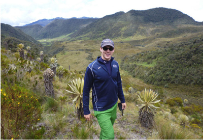 Andrew Austin, a teacher in Chicago, Illinois shares his  adventures hiking while in Colombia!