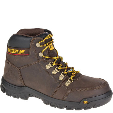 92ecb0ea9fb CAT P90803 OUTLINE Steel Toe Non-Insulated Brown Work Boots
