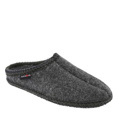 b4e30916bbb2 Haflinger 611002-4 AS7 Unisex Grey Boiled Wool Slippers - Family Footwear  Center