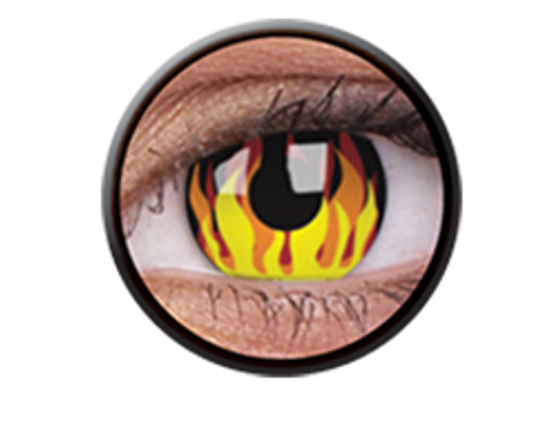 ColourVue Crazy Lenses Flame Hot