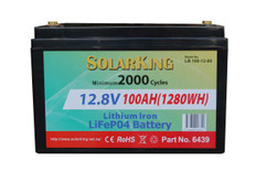 100AH Lithium LiFe PO4 SolarKing Battery - LB-100-12-80